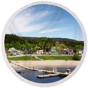 Tadoussac Quebec Round Beach Towel
