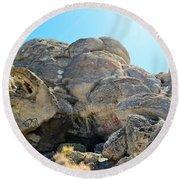 Tagged Rocks Round Beach Towel