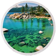 Tahoe Bliss Round Beach Towel