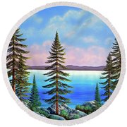 Tahoe Pines Round Beach Towel