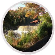 Tahquamenon Falls With My Iphone Round Beach Towel