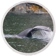 Tail Falls Round Beach Towel