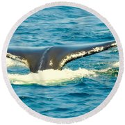 Tail From The Deep Round Beach Towel