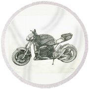 Tail In The Air Round Beach Towel