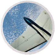 Tail Of The Airplane Round Beach Towel