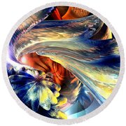 Tailed Beast Abstract Round Beach Towel