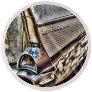 Taillight 1957 Chevy Bel Air Round Beach Towel