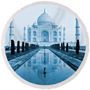 Taj Mahal - Agra - India Round Beach Towel