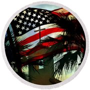Take Back America Round Beach Towel