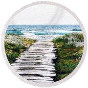 Take Me To The Sea Round Beach Towel