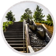 Take The Stairs Or... Round Beach Towel
