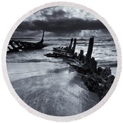 Taken By The Sea Round Beach Towel