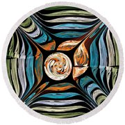 Tale Of Earth Round Beach Towel
