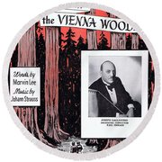 Tales From The Vienna Woods Round Beach Towel