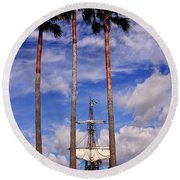 Tall And Taller Round Beach Towel
