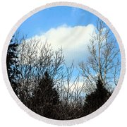 Tall Birch Round Beach Towel
