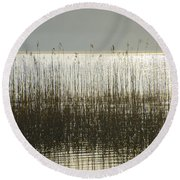 Tall Grass On Lough Eske - Donegal Ireland Round Beach Towel