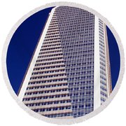 Tall Highrise Building Round Beach Towel