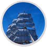 Tall Ships Race In The Ocean, Baie De Round Beach Towel