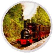 Talyllyn Railway 4 Round Beach Towel