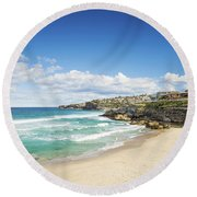 Tamarama Beach Beach In Sydney Australia Round Beach Towel