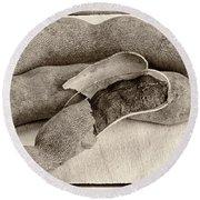 Tamarindo Whole Sepia Round Beach Towel