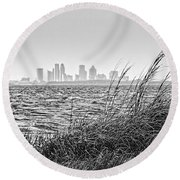 Tampa Across The Bay Round Beach Towel