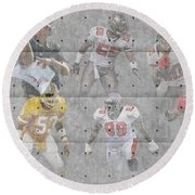 Tampa Bay Buccaneers Legends Round Beach Towel