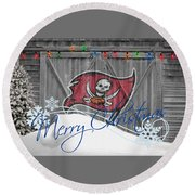 Tampa Bay Buccaners Round Beach Towel