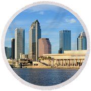 Tampa Bay Classic View Round Beach Towel