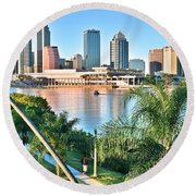 Tampa Bay Florida Round Beach Towel