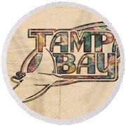 Tampa Bay Rays Poster Art Round Beach Towel