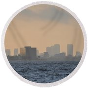 Tampa From The West Shore Round Beach Towel