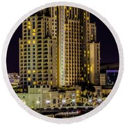 Tampa Marriott Waterside Hotel And Marina Round Beach Towel