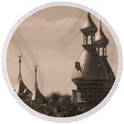 Tampa Minarets  Round Beach Towel by Carol Groenen