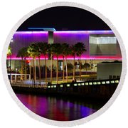 Tampa Museum Of Art In Hdr Round Beach Towel
