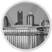 Tampa Panorama Round Beach Towel