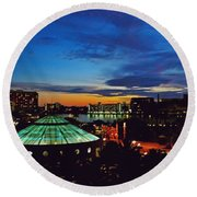Tampa Sunset Round Beach Towel