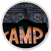 Tampa Theatre Sign 1926 Round Beach Towel