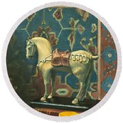 Tang Horse Round Beach Towel