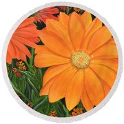 Tangerine Punch Round Beach Towel