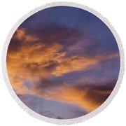 Tangerine Swirl Round Beach Towel by Caitlyn  Grasso