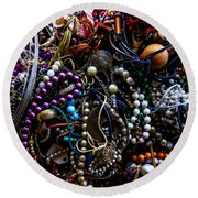 Tangled Baubles Round Beach Towel