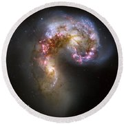 Tangled Galaxies Round Beach Towel