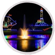Tanglewood Festival Of Lights Round Beach Towel
