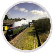 Tangmere At Seaton Junction Round Beach Towel