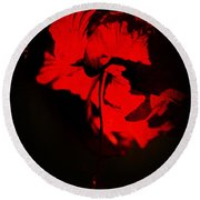 Tango Of Passion For You Round Beach Towel