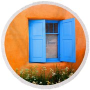 Taos Window IIi Round Beach Towel