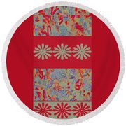Tapestry Round Beach Towel