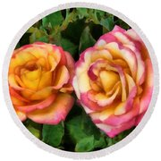 Tapestry - Roses And Thorns Round Beach Towel